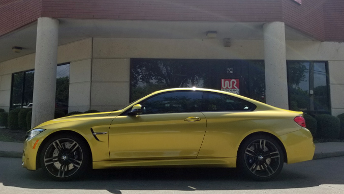 2015 BMW F82 M4; Non-adjustable suspension