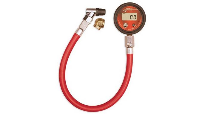 Longacre Basic Digital 2inch 0-60 Tire Pressure Gauge Winding Road Racing