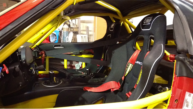 Winding Road Racing Mazda Race Car Builds: OMP Seat Installation, Schroth Harness Install